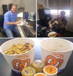 Landmark EPC employee pretzel event